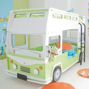 Kinderbett junge bus  Autobett Bus inkl Lattenrost + Einlegeboden Rennautobett Spielbett ...