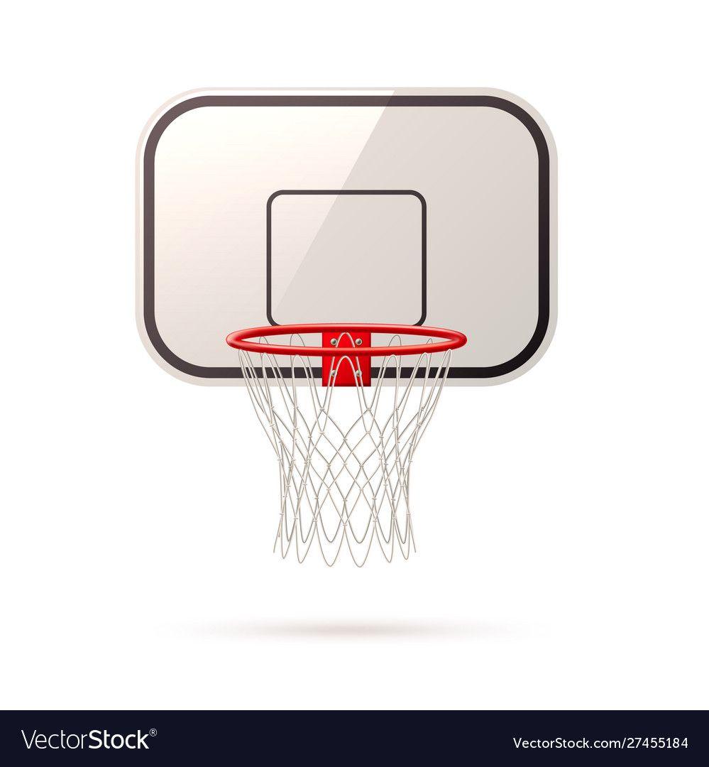 Realistic Basketball Board Basket And Hoop Vector Image Aff Board Basketball Realistic Basket Ad In 2020 Vector Free Vector Images Free Vector Images