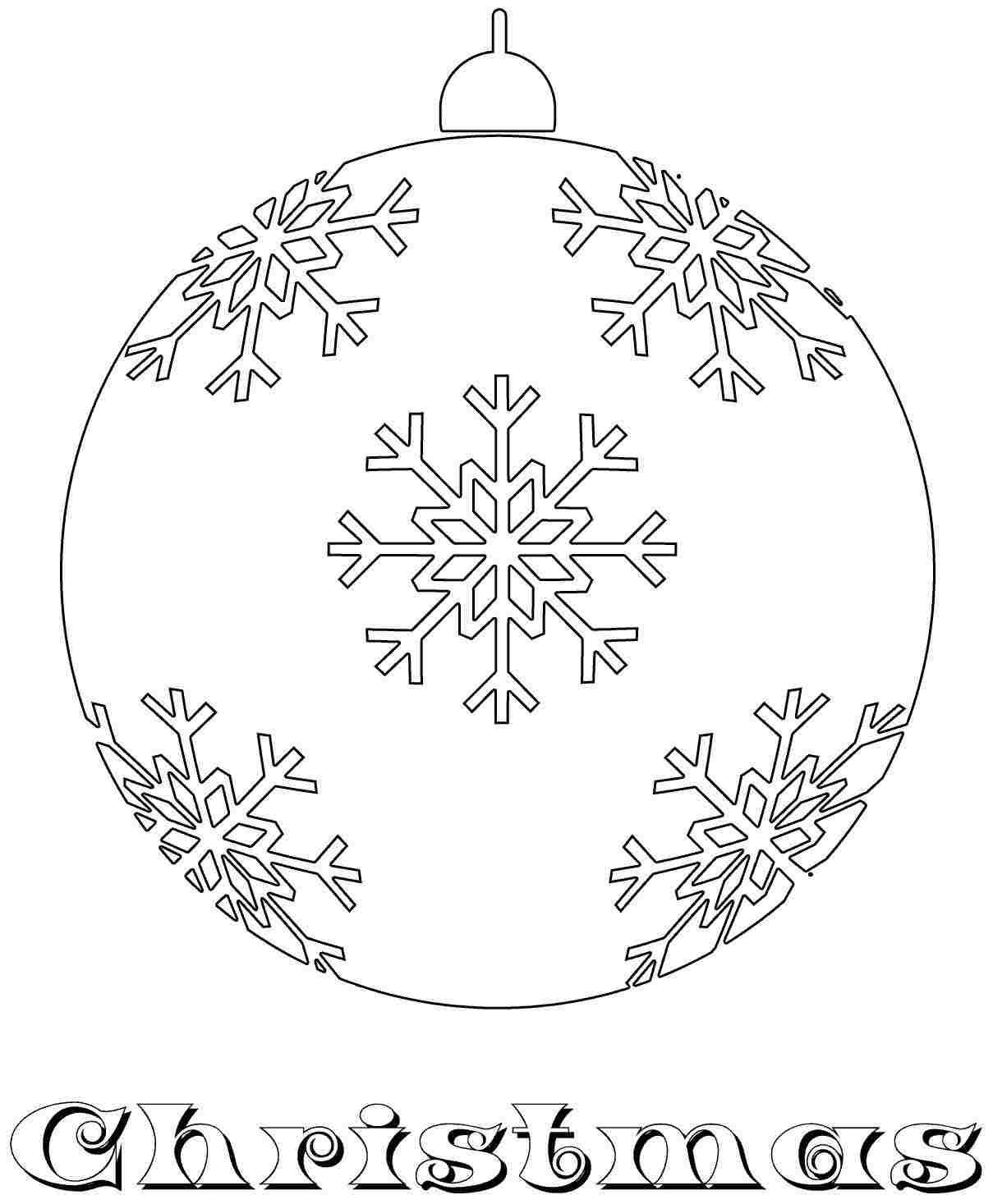 Free Christmas Ornament Coloring Sheets For Kids Girls 3906