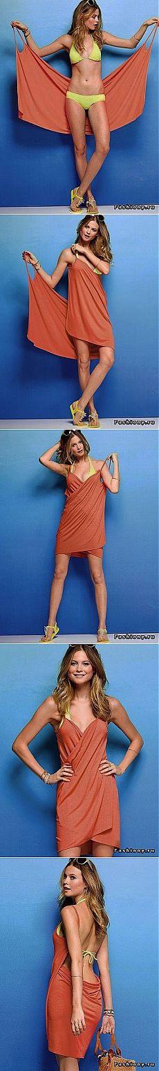 Пляжное платье легко и просто!
