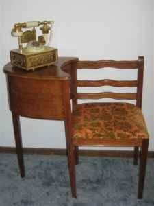 antique telephone table chair desk