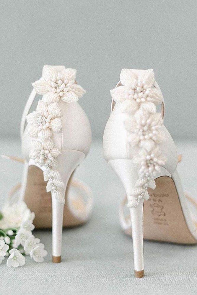 24 Elegant White Wedding Shoes Wedding Forward In 2020 Elegant Wedding Shoes White Wedding Shoes White Heels Wedding