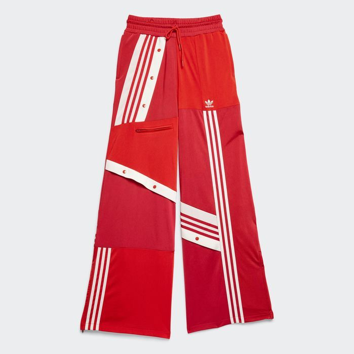DECONSTRUCTED TRACK PANTS Red M Womens   Pants, Fashion