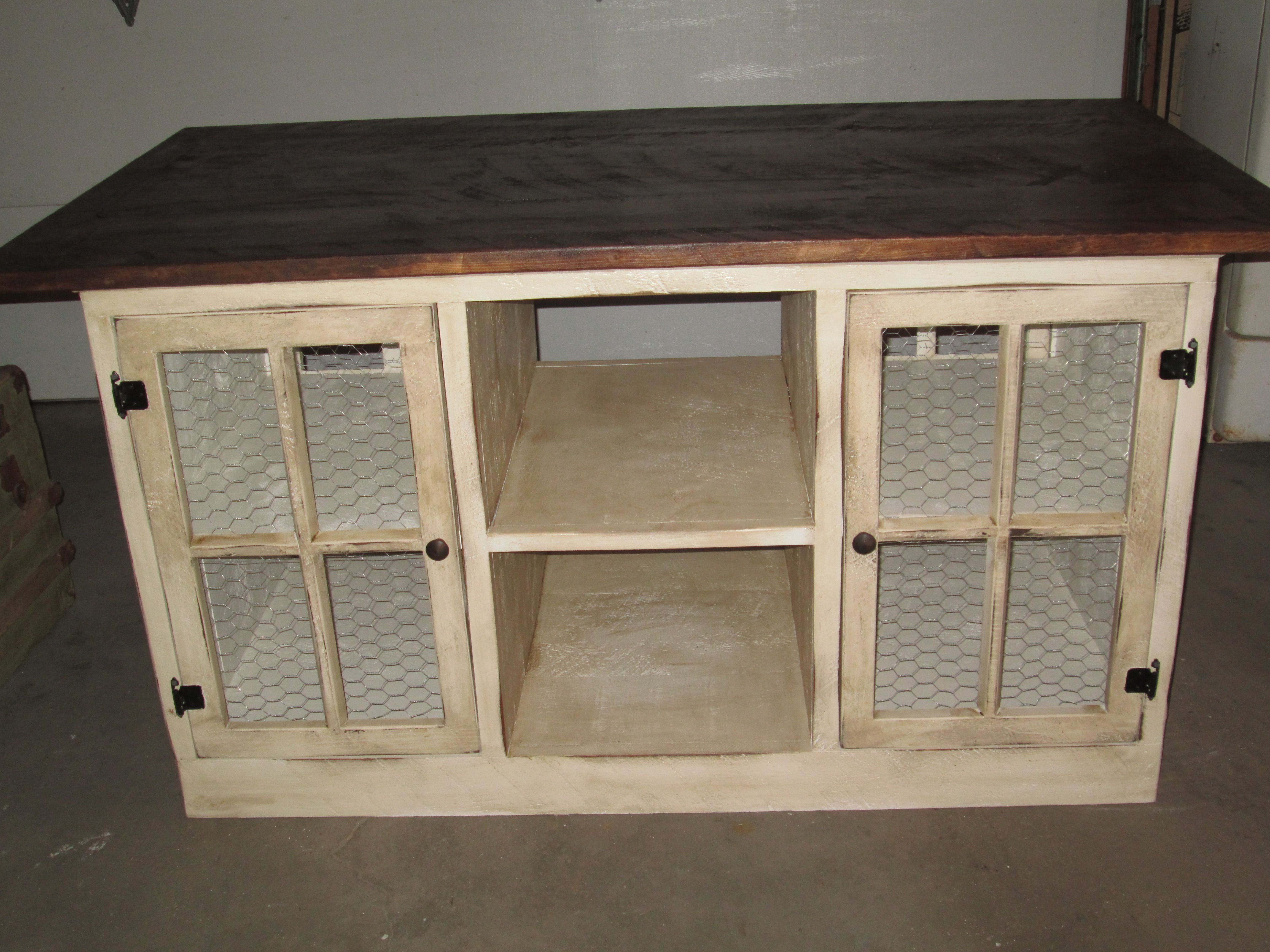Primitive Kitchen Island... This Was A Custom Order... Turned Out Nice...  Big And Heavy!