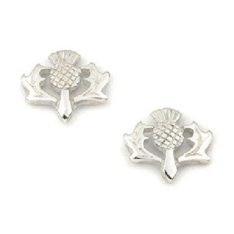 9ct Gold Scottish Thistle Stud Earrings wuGz5pyP