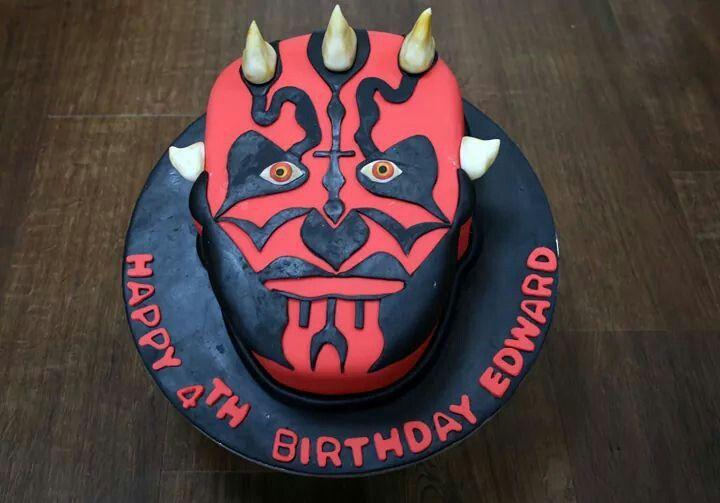 Darth Maul Cake Cakes Pinterest Darth Maul Cake And Birthdays