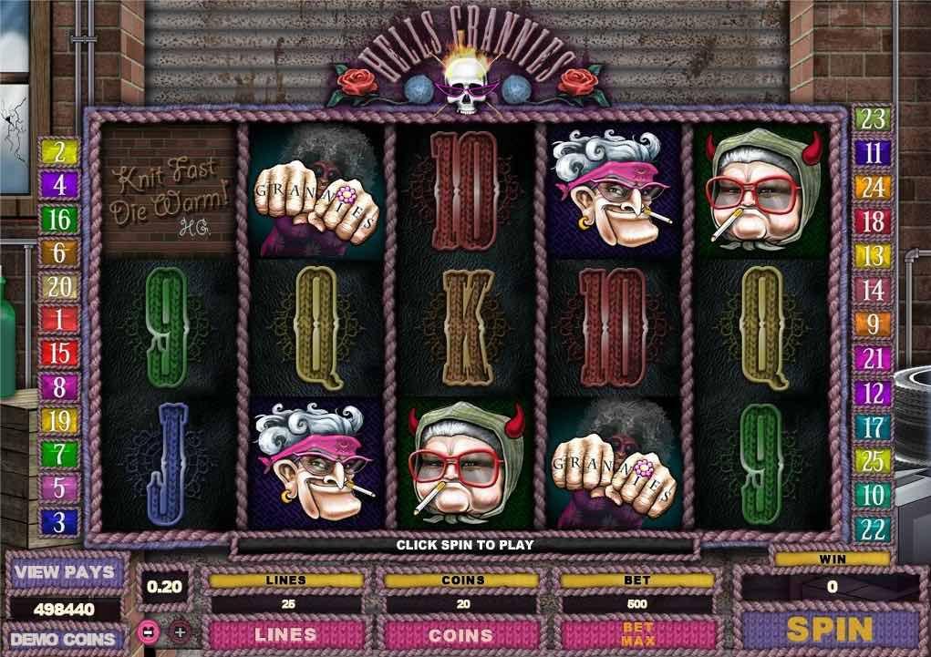 Играть бесплатные онлайн игровые автоматы hell s grannies