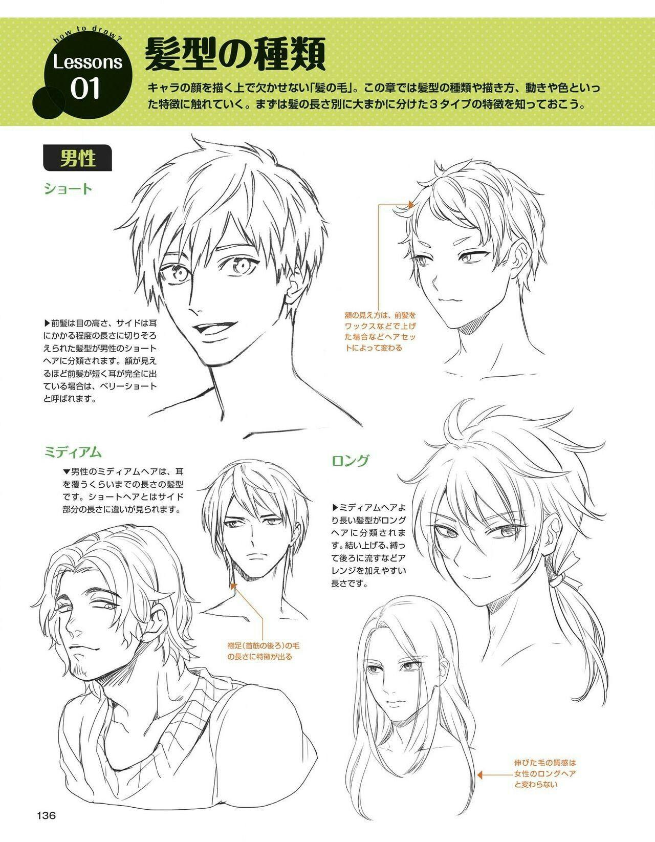 髪型の描き分けのコツを特集 色に頼らず上手くなろう Crepo クリポ Inside 髪型 ショート 描き方 Divtower Com Manga Drawing Tutorials Drawing Expressions Anime Drawings Tutorials