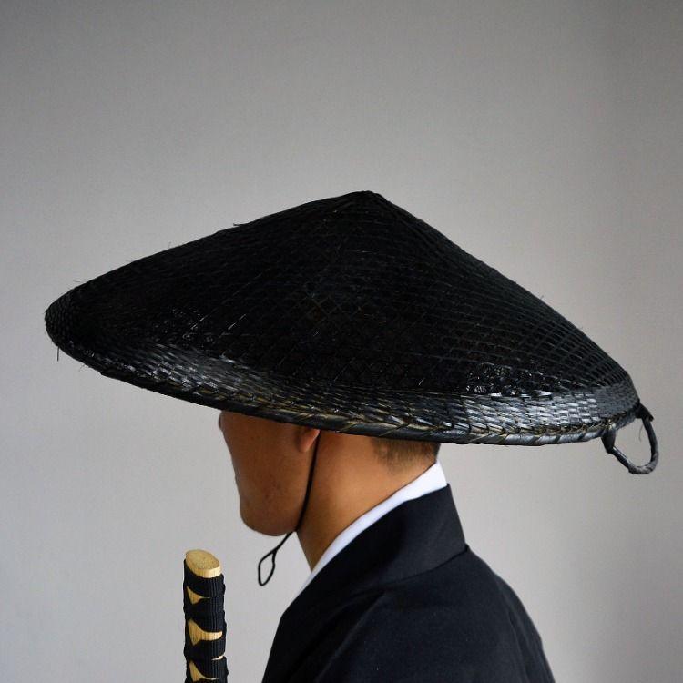 Bamboo Japanese Hat Samurai Hat Cosplay Asian Hat Dia 19 7 Inches 5 Depth Samurai Hat Japanese Hat Black Samurai