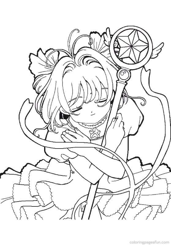 Carcaptor Colouring Pages Page 2 Cute Coloring Pages Sakura Card Coloring Pages