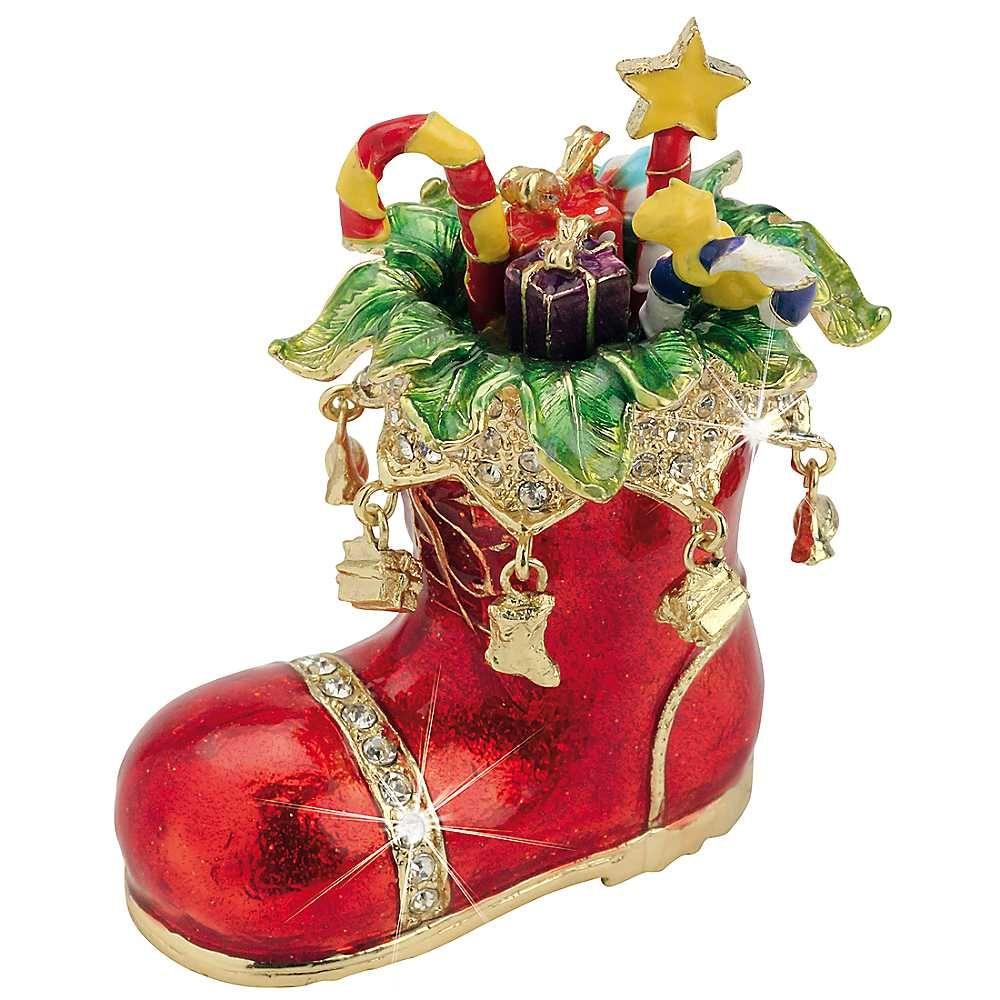 Craycombe Trinkets Christmas Boot Trinket Box Christmas Trinkets