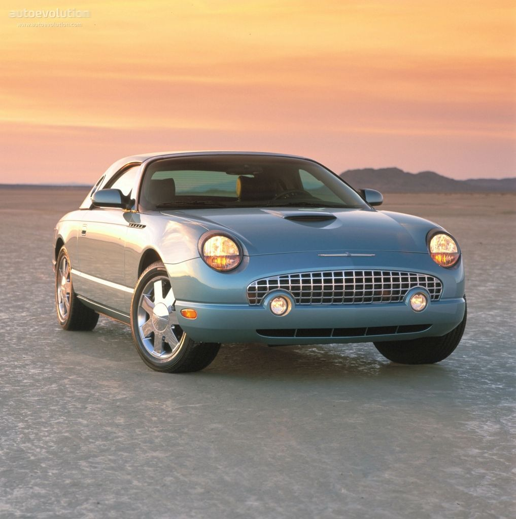 FORD Thunderbird 2000 - 2005. (Doesn't the Nissan Figaro look like an  animated version of the T-Bird? Owned an '80s T-Bird, car rode well.