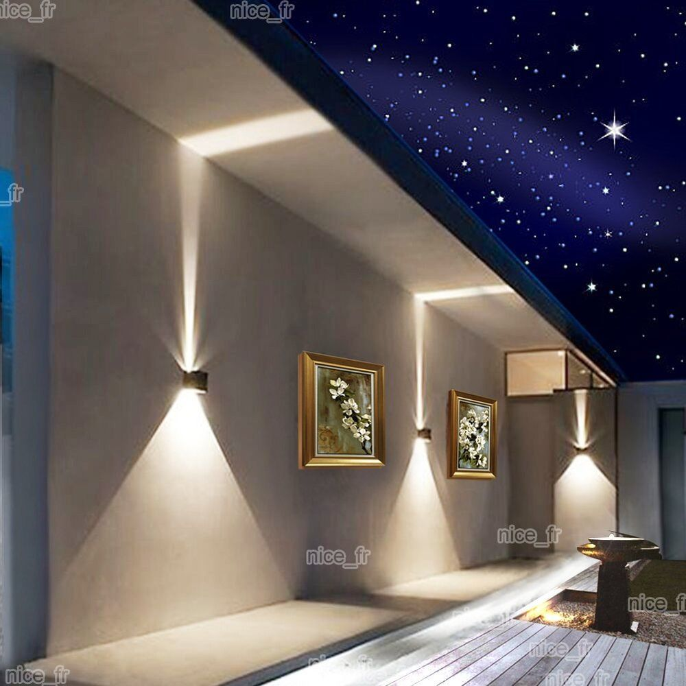 Nice  W LED Aussen Wandleuchte Effektleuchte Wandlampe LED Lampe Licht Wasserdicht in M bel