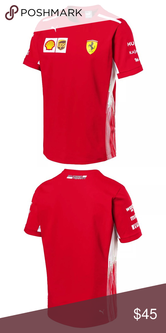 Puma Ferrari shirt Brand new! 70$ retail price. Puma Shirts Tees - Short Sleeve   Puma shirts ...