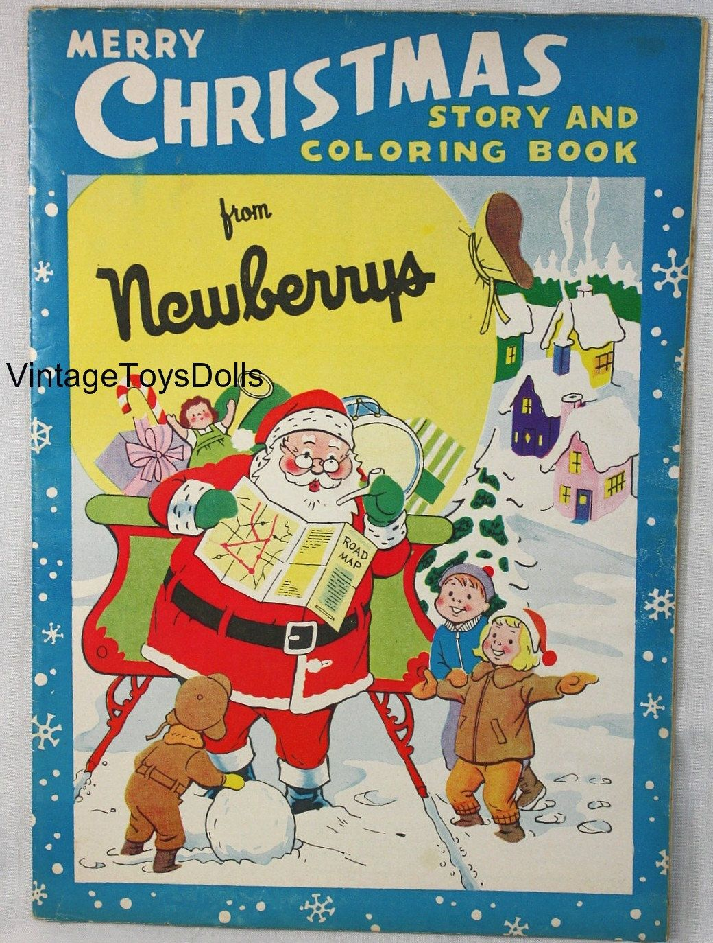 Vintage Christmas Toy Catalog Coloring Book Jj Newberry S 1960 Vintage Christmas Toys Christmas Toy Catalogue Vintage Coloring Books