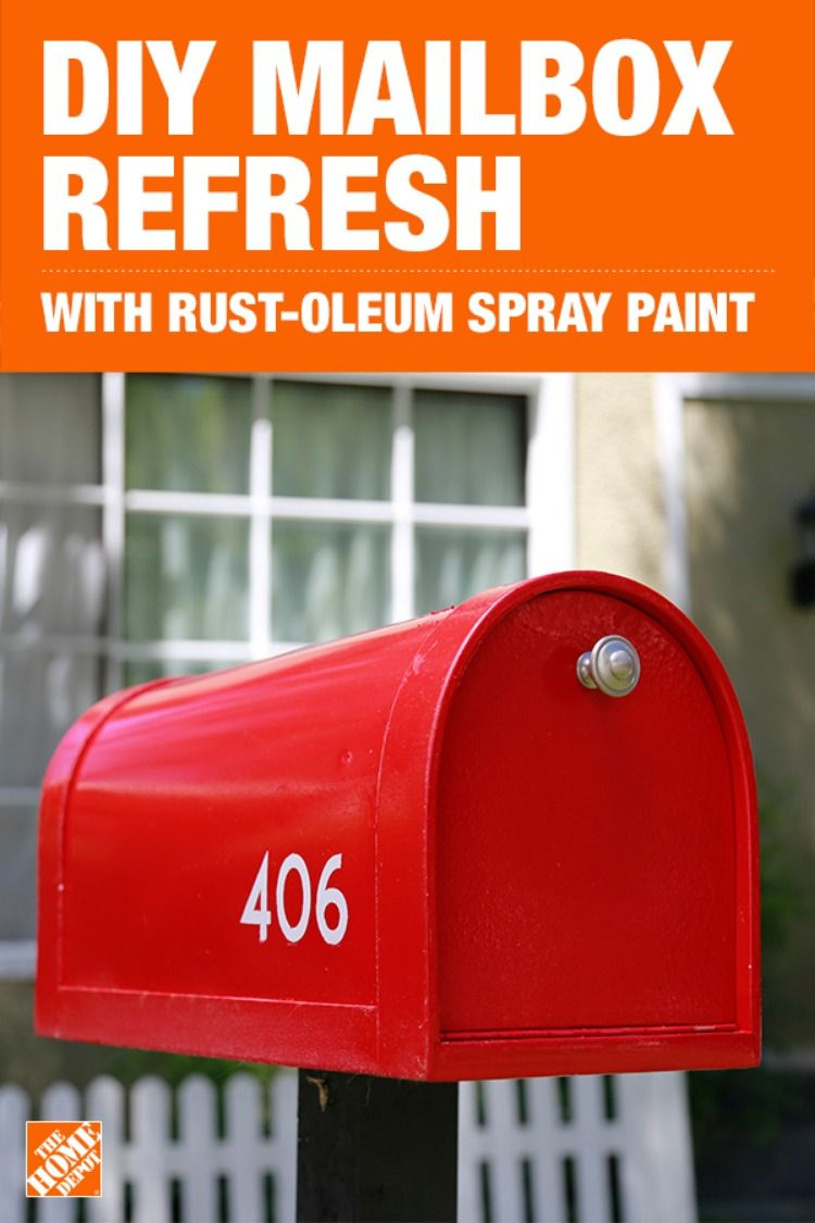 Give your mailbox a facelift using Cherry Rust-Oleum Stops
