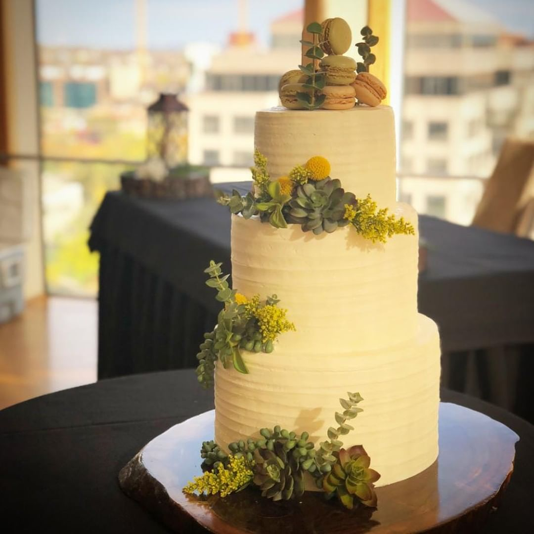 Beautiful Wedding Cakes By The Baking Grounds Bakery Café: Kansas City Rustic Wedding Cake Succulents KC Wedding The