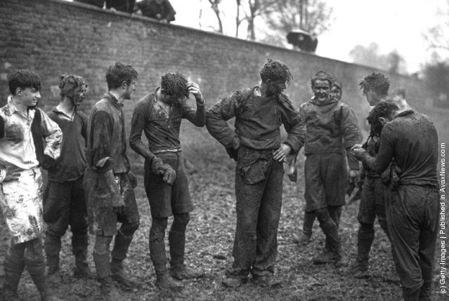 1939 Eton School Boys Covered In Mud After Taking Part In The Annual Wall Game Wall Game Eton Eton College