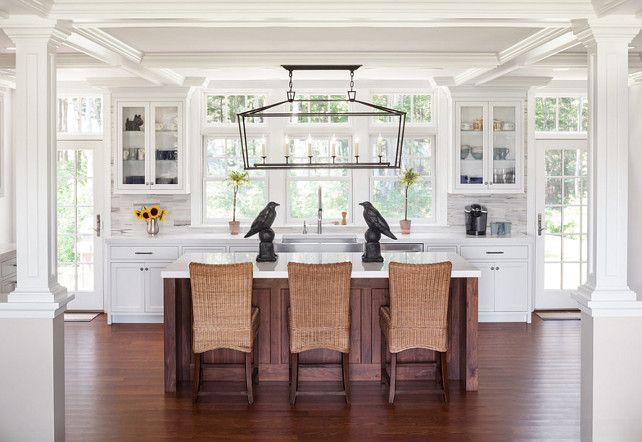 Linear Chandelier Over Kitchen Island Fixture Shown Is