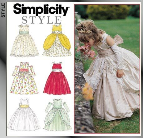 SEWING PATTERN 6 STYLES CLOTHES MAKES LINED FANCY DRESS CHILD 3 TO GIRL 14