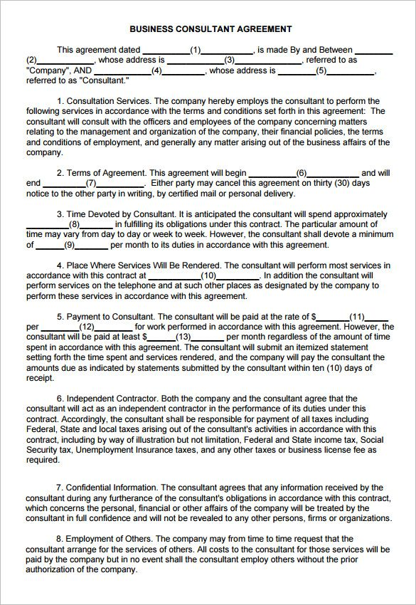 17 Consulting Contract Templates Word Pdf Apple Pages