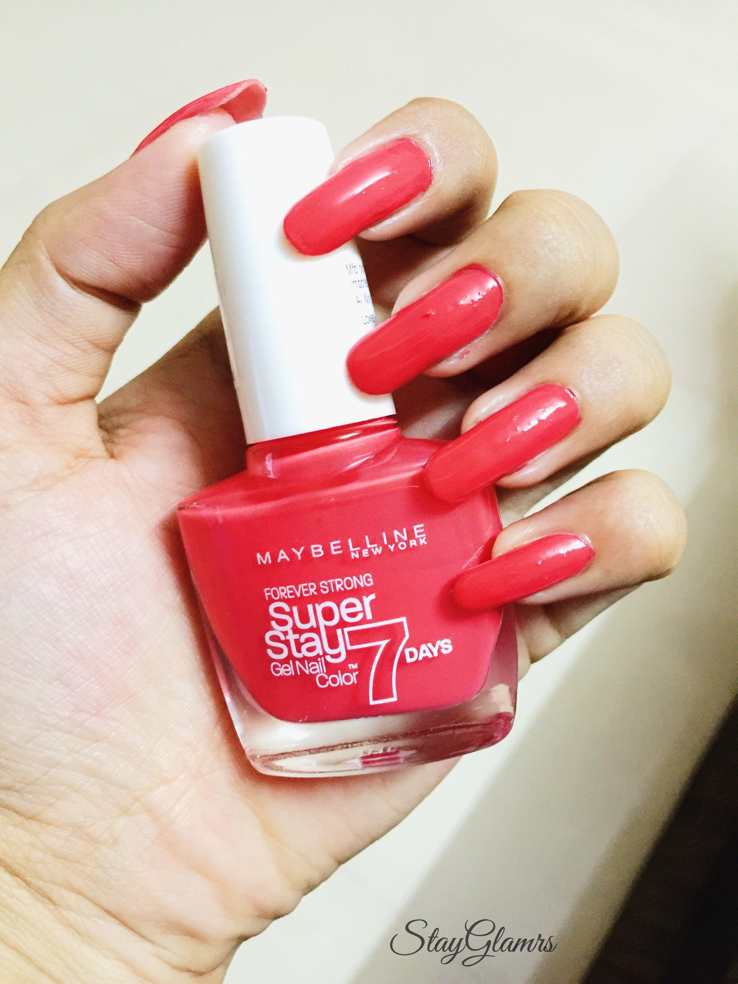 Maybelline Superstay 7 Days Gel Nail Color Rose Salsa Gel Nail Colors Gel Nails Nail Colors