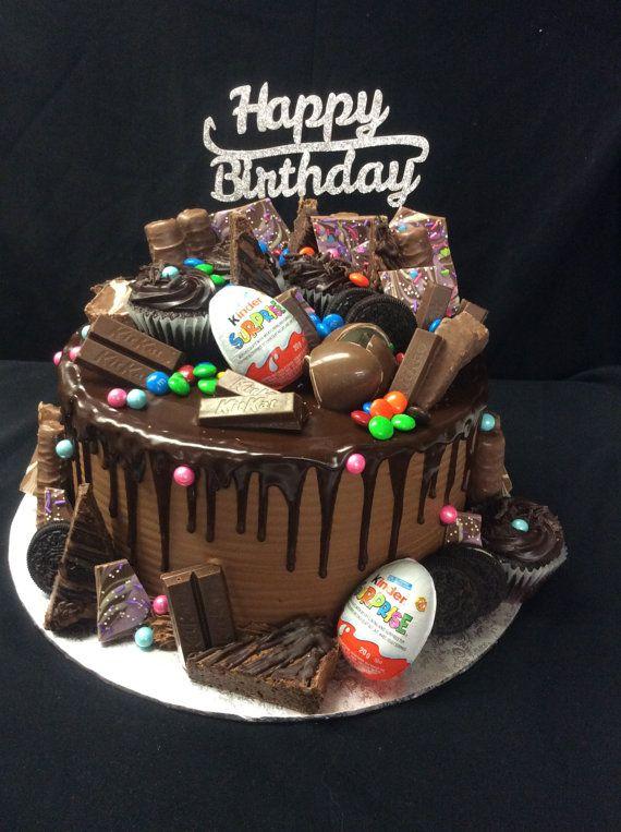 Happy 21st Birthday Cake Topper Twenty One Daughter Son Nephew Niece Glitter