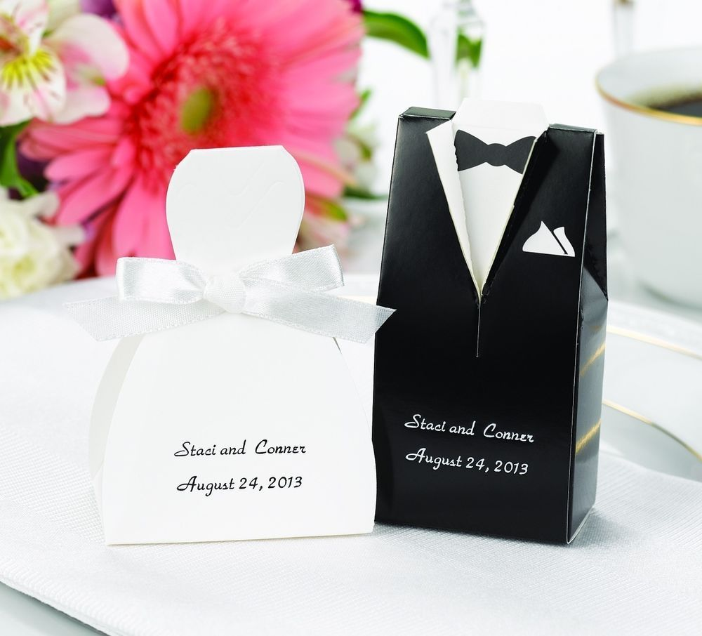 Details about Bride Groom Black Brown Tuxedo White Ivory Dress ...
