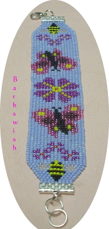 Hand Woven Indian Style Seed Bead  Bracelet Spring by Barbswish, $18.00