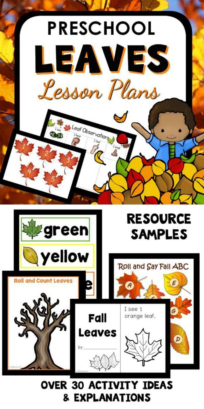 Fall Leaf Theme Preschool Classroom Lesson Plans