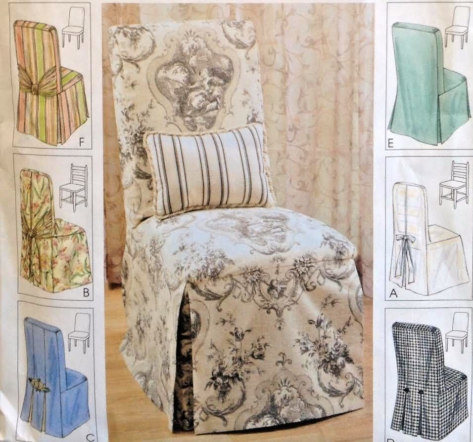 Chair Cover Patterns Uc Mccalls 3990 Sew Pattern Slip Cover Dining Room Chairs 6 Styles