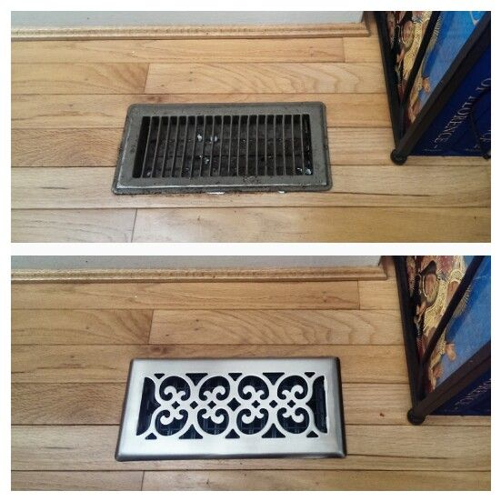 Easiest Home Upgrade Ever Fancy Floor Vent Covers Offbeat Home Life Easy Home Upgrades Home Upgrades Updating House