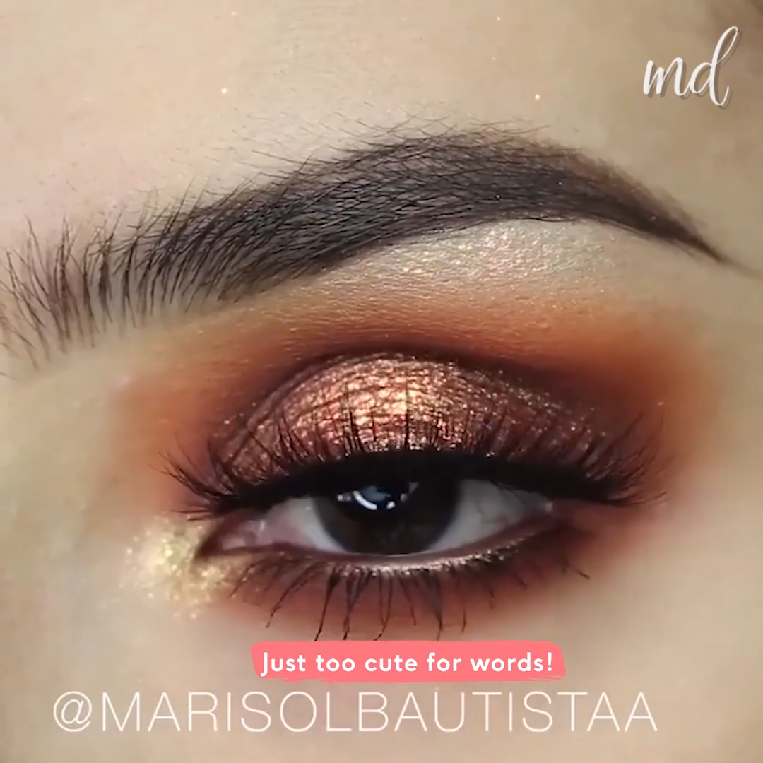 ROSE GOLD EYE MAKEUP LOOK TUTORIAL IDEA