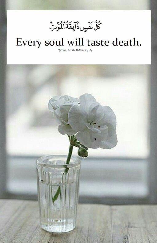 Ali Imran 3:230. EVERY SOUL WILL TASTE DEATH. fansurna ya Allah..