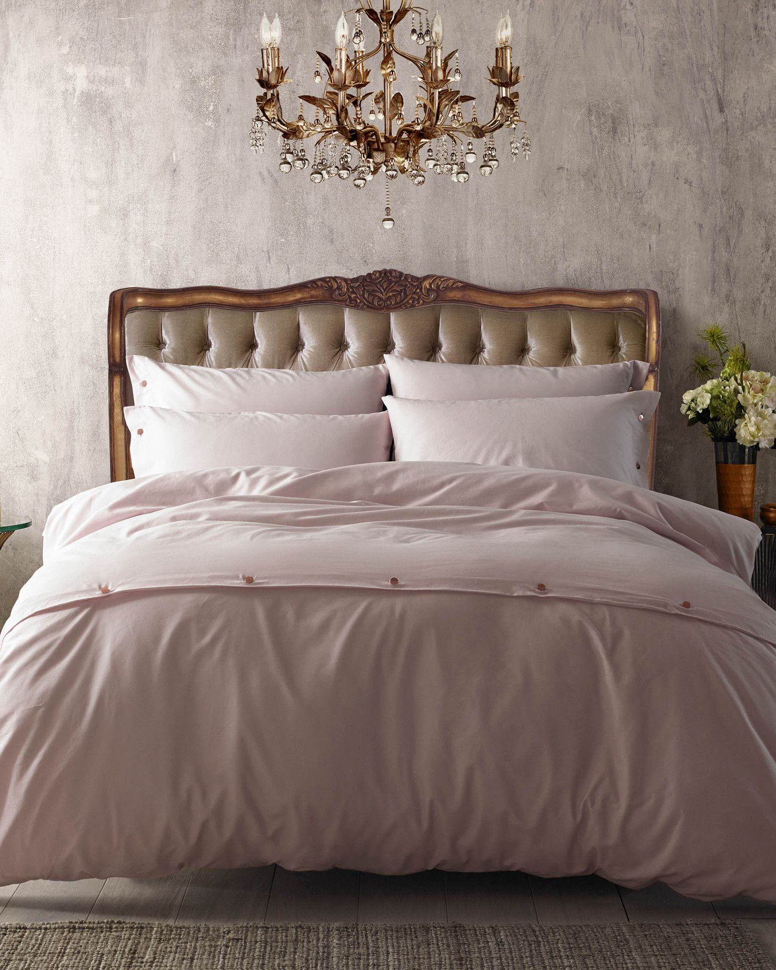 Cotlin Super King Duvet Cover  Pink - Home And