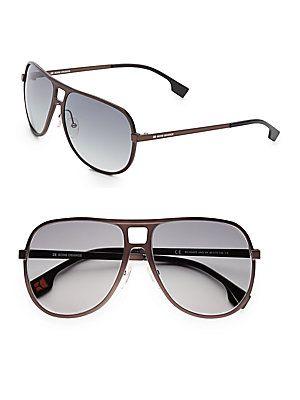 Boss Orange 60MM Aviator Sunglasses - Black - Size No Size