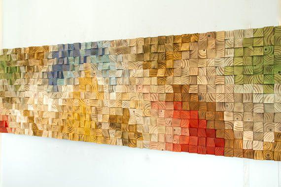 Large Wood Wall Art 2017 colour trends geometric art | 壁饰 ...
