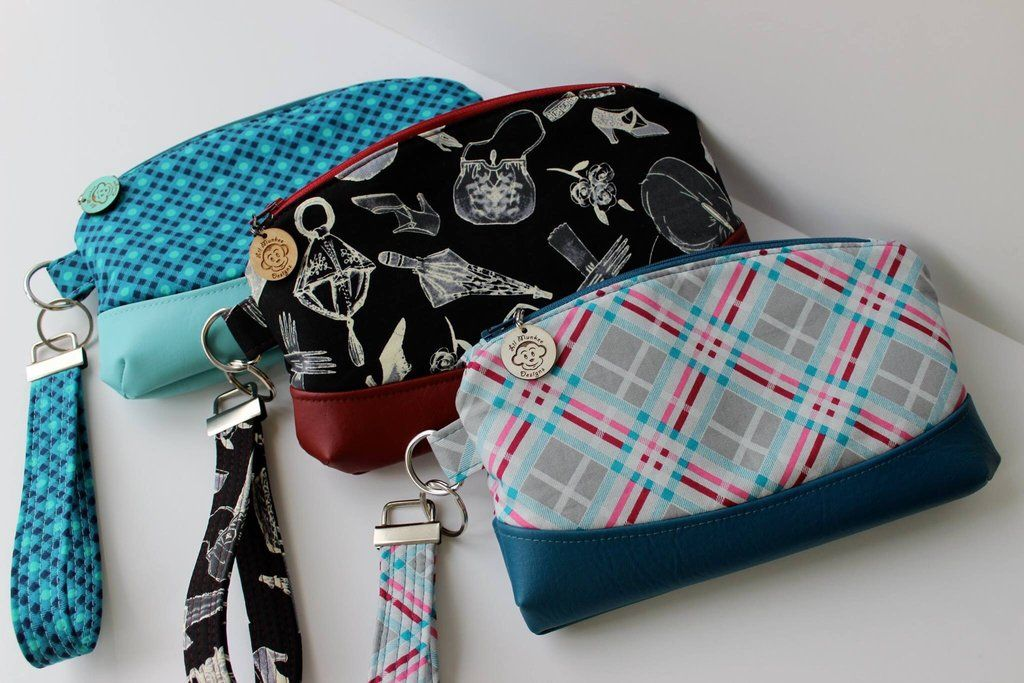 FREE The Clematis Wristlet - PDF Sewing Pattern | Bags, Sewable ...