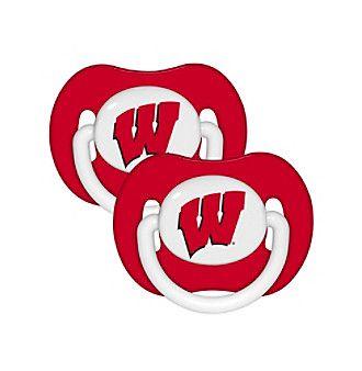 NCAA® University of Wisconsin 2-Pack Baby Pacifiers