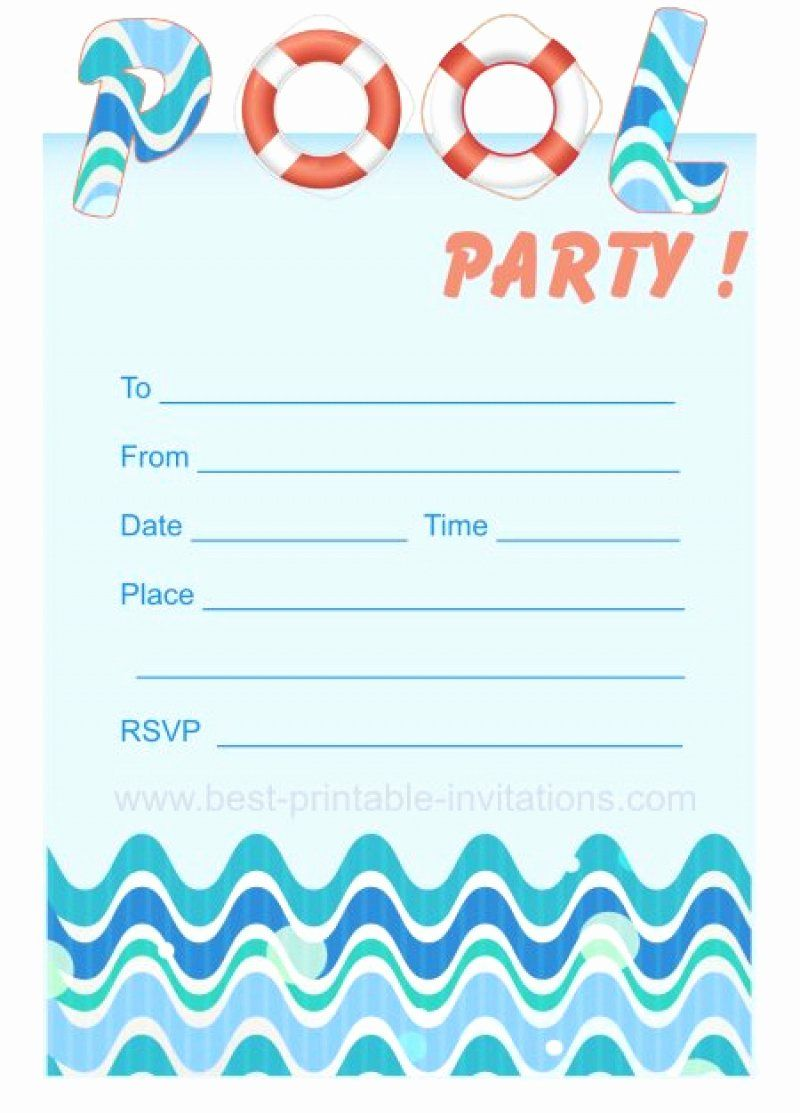 Pool Party Invitations Template Best Of Blank Pool Party Ticket Invitation Template In 2020 Swim Party Invitations Pool Party Invitation Template Party Invite Template