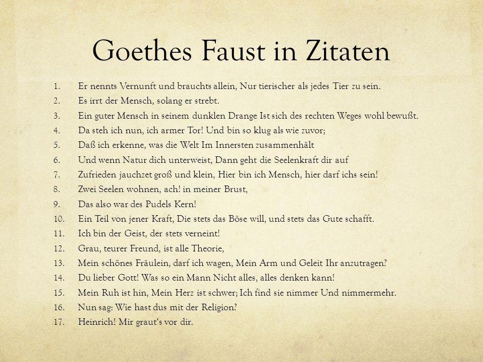 Zitate Goethe Faust | Leben Zitate