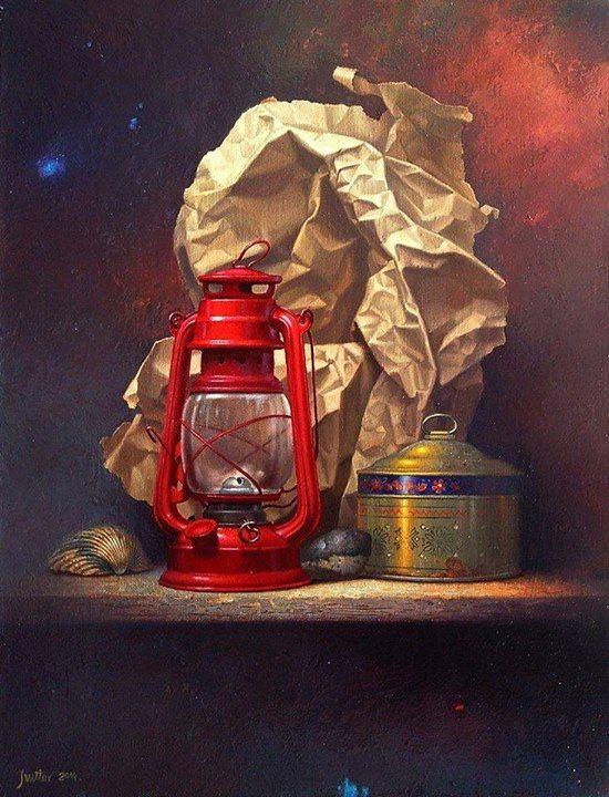 Still life painting by Edward Szutter http://webneel.com/25-hyper-realistic-still-life-oil-paintings-alexei-antonov-old-masters-technique | Design Inspiration http://webneel.com | Follow us www.pinterest.com/webneel