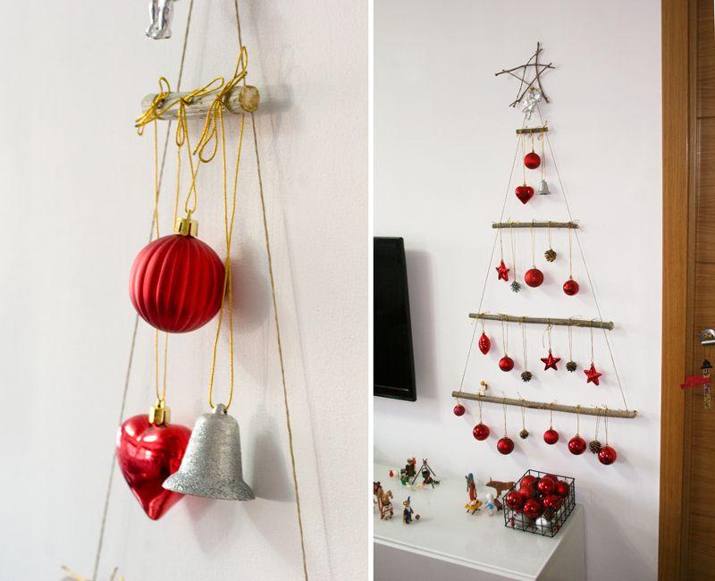 Diy arb l de navidad con ramas decorar en familia def - Arbol de navidad con ramas ...