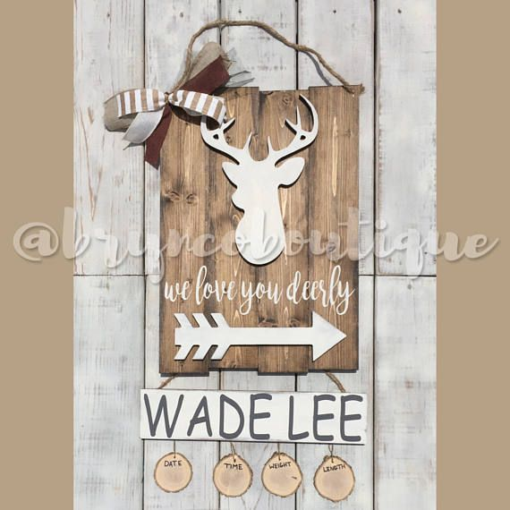 Deer X2f Hospital Door Hanger X2f Welcome Baby X2f Baby Boy X2f Birth Hospital Door Hangers Baby Door Hangers Hospital Door