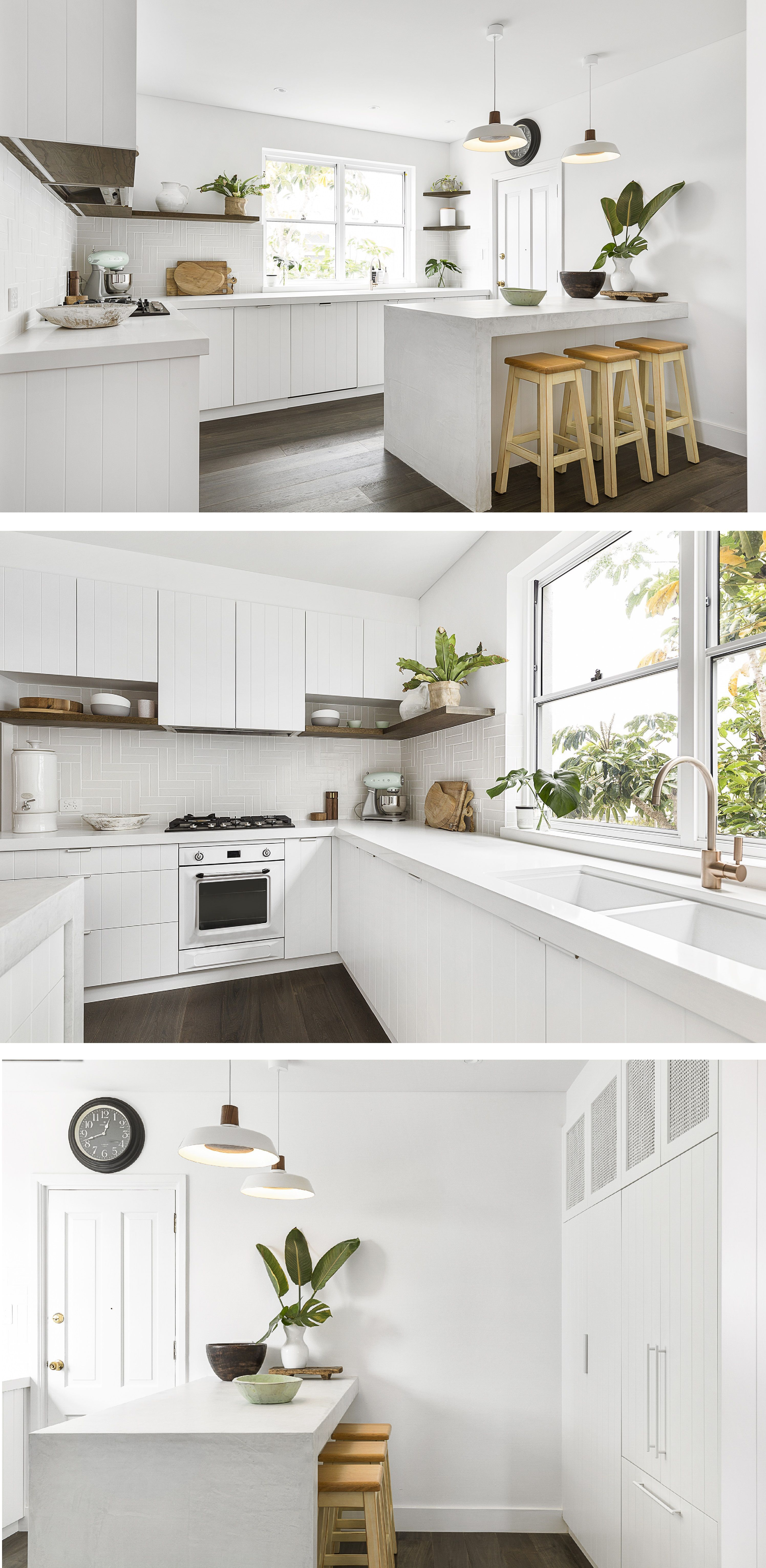 wide and bright l shaped kitchen with an island with combination of different textures and on kitchen island ideas v shape id=29469