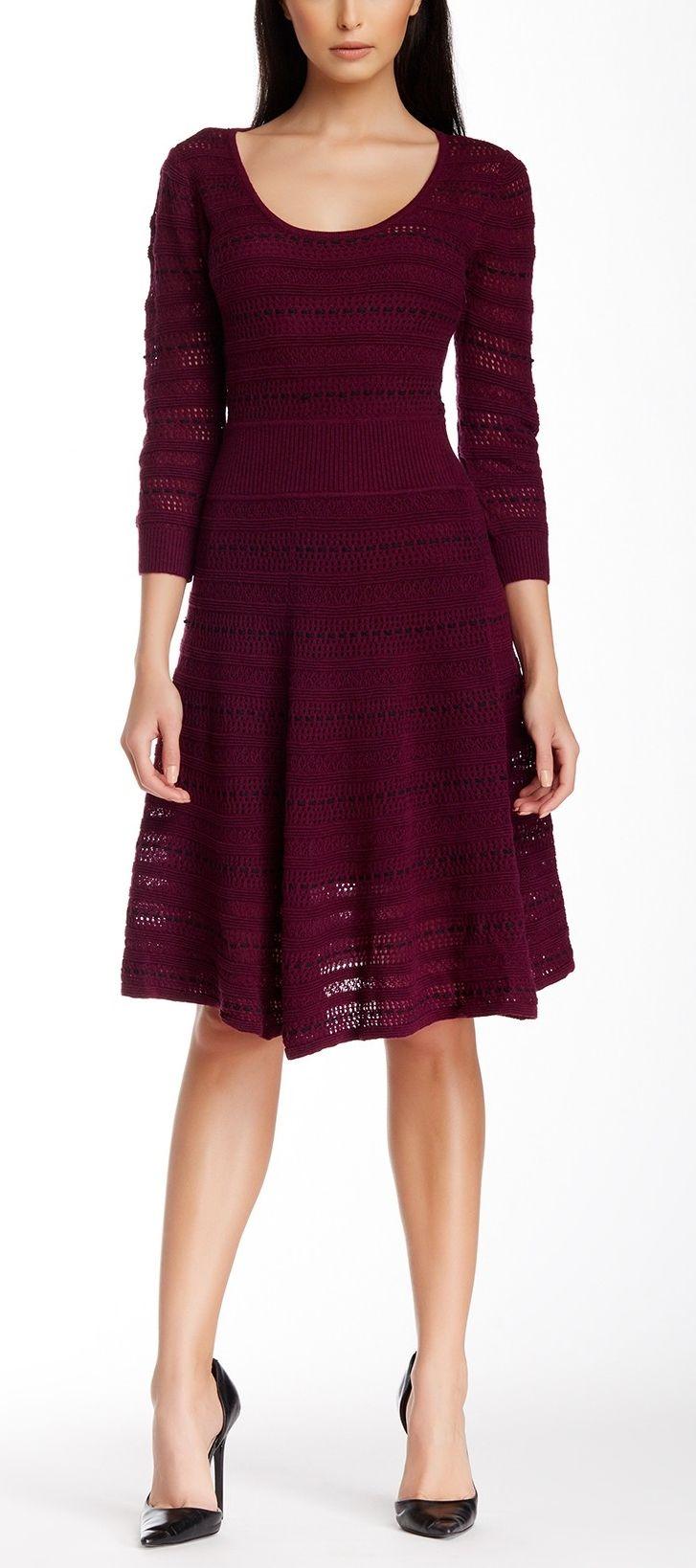d57737f276cd2 Catherine Malandrino Wool Blend Sweater Dress