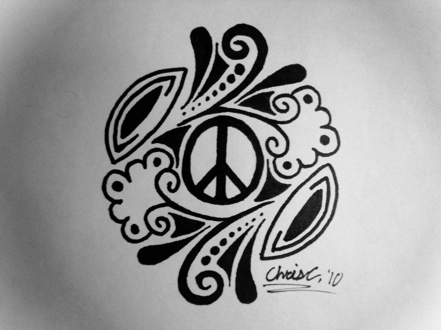 Peace Sign Tattoo Design By Ticklemehohoiantart On