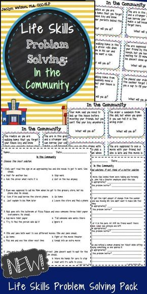 Life Skills Problem Solving: In the Community   purchase life skills ...