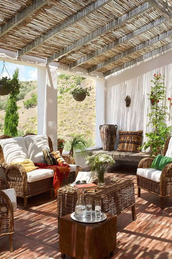 أفضل تصاميم الديكورات الخارجية وديكورات أسطح المنازل وتصميمات مميزة لأثاث الحدائق وأسطح الفلل والمنازل الفخمة ديكور للبلكون Pergola Patio Outdoor Living Patio