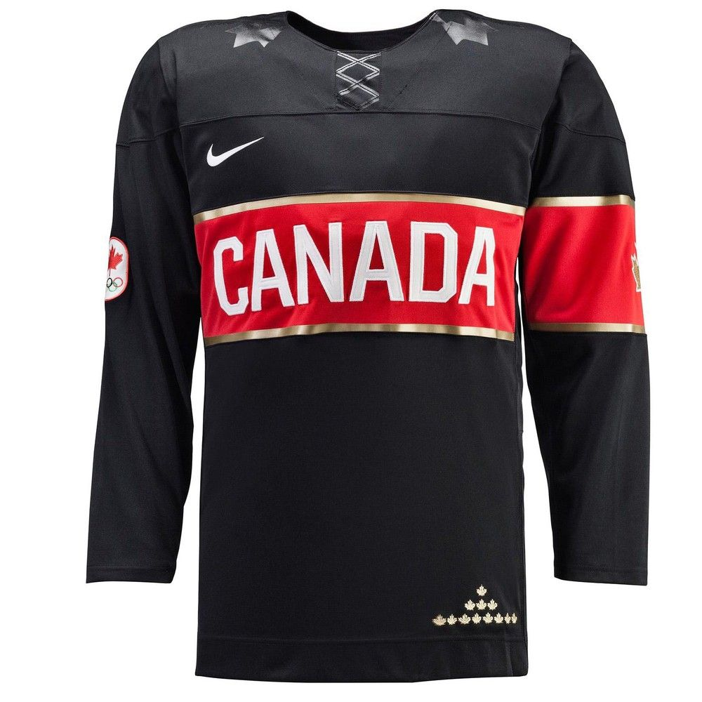 Team Canada Hockey Jersey 2014 Olympic Black Official